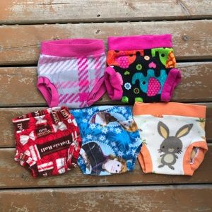 3/$30 - Fleece Cloth Diaper Cover Lot - Size Large 10-20lbs